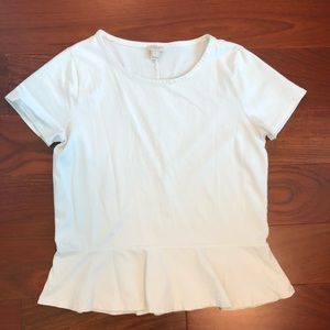 JCREW Peplum Top